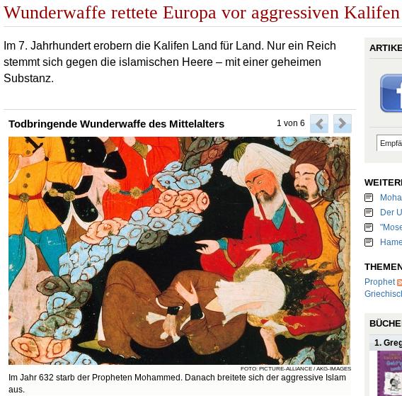 """Welt Online: """"Wunderwaffe gegen Kalifen"""""""