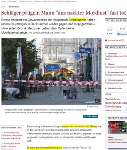 Mutmassliche Muslime schlagen Vietnamesen in Berlin zusammen