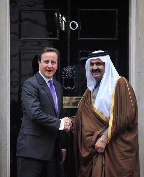 Emir von Katar und David Cameron