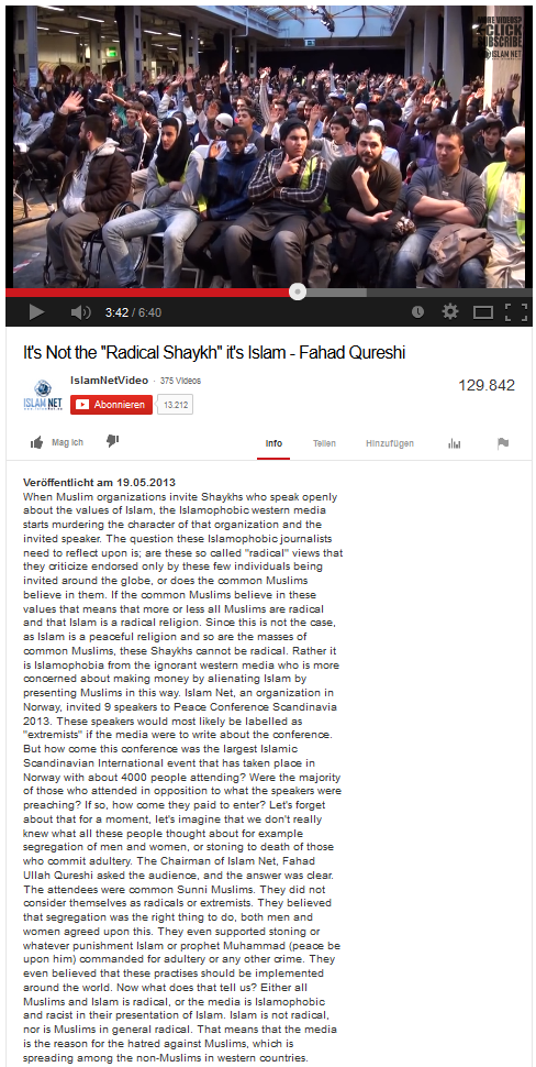 Normale Moslems finden Steinigung voll dufte