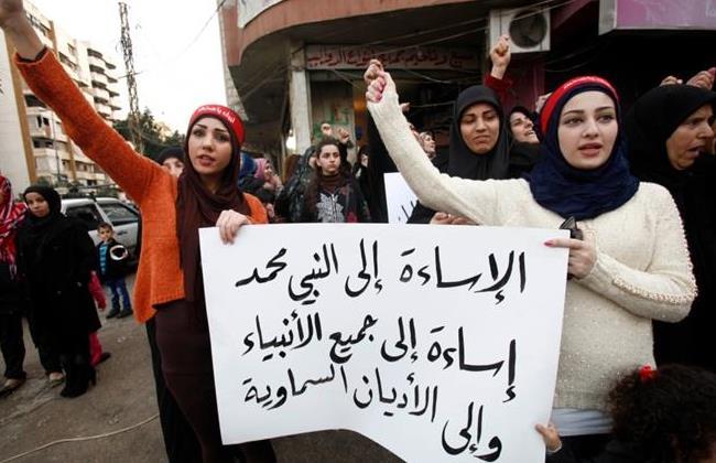 protest-against-charlie-cartoon-lebanon