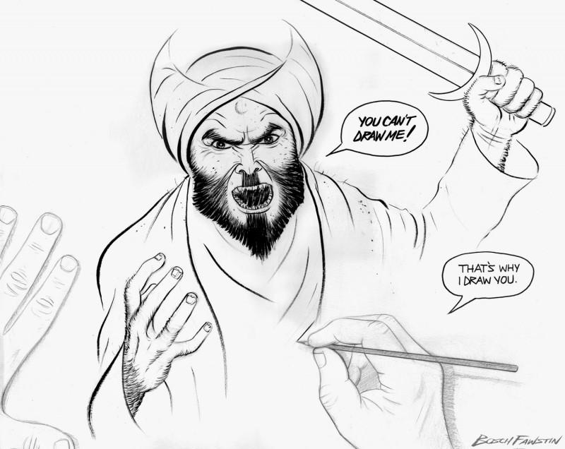 Draw Mohammed Contest: Bosch Fawstin