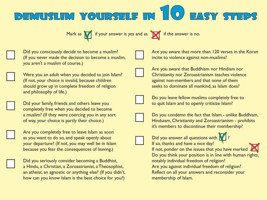 Entmuslimisiere dich selbst